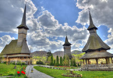 Idyllic monastery of Barsana, Romania Royalty Free Stock Photography