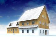 Idyllic mountain hut with blue sky Stock Photography