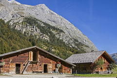 Idyllic mountain hut in Tyrol Royalty Free Stock Photo