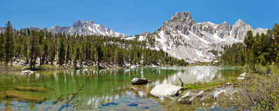 Idyllic Mountain Lake Stock Images