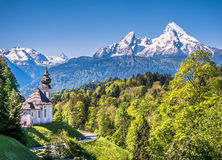 Idyllic mountain landscape in the Bavarian Alps, Berchtesgadener Land, Bavaria, Germany Stock Image