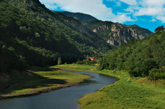 Idyllic mountain landscape. In Europe Royalty Free Stock Photo