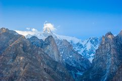 Idyllic Mountain Valley. Beautiful Landscape of Hunza Valley in Autumn season. Northern Area of Pakistan Stock Photo