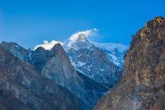 Idyllic Mountain Valley. Beautiful Landscape of Hunza Valley in Autumn season. Northern Area of Pakistan Stock Photos