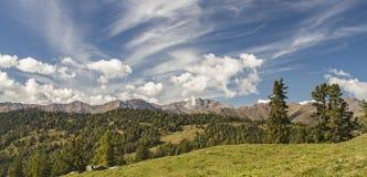 Idyllic mountain valley  Pfunds Stock Image