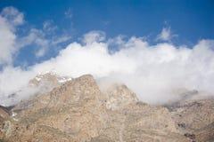 Idyllic Mountain Valley. Sunrise over mountain peak Northern area of Pakistan Stock Photos