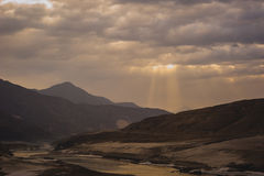 Idyllic Mountain Valley Stock Photography