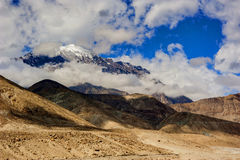 Idyllic Mountain Valley. Sunrise over mountain peak Northern area of Pakistan Royalty Free Stock Image