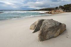 Idyllic natural beach scene Stock Images