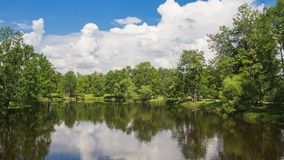 Idyllic natural beauty with lake and green trees in summer. Idyllic natural beauty with lake and green trees in summer stock photography