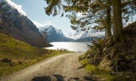 Idyllic nature of Norway stock image