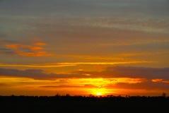 Idyllic Norfolk Sun Set Royalty Free Stock Photos