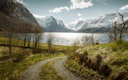 Idyllic norwegian landscape stock photography