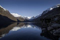 Idyllic norwegian nature royalty free stock photography
