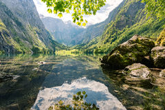 The idyllic Obersee in Berchtesgaden, Germany Royalty Free Stock Photography