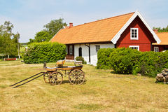 Idyllic old house. Houses and environment in Sweden Stock Images