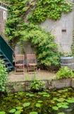 Idyllic outdoor seating Royalty Free Stock Photos