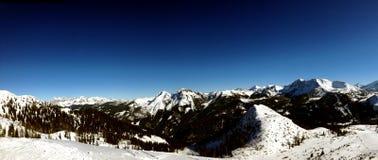 Idyllic panorama of Alps Mountains Stock Image