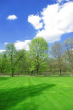 Idyllic park view Royalty Free Stock Photo