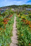 Idyllic path in Giverny, Normandy, France royalty free stock photos