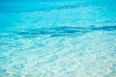 Idyllic perfect turquoise water at exotic island Royalty Free Stock Image