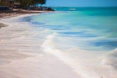 Idyllic perfect turquoise water at exotic island Stock Image