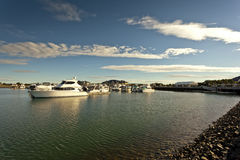 Idyllic picture of a marina Royalty Free Stock Photography