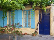 Idyllic place in the languedoc. An little idyllic place in a little winegrower village in the languedoc royalty free stock image