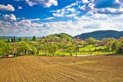 Idyllic Prigorje mountain village of Apatovec Royalty Free Stock Photo