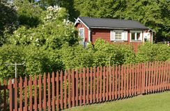 Idyllic red cottage Stock Image