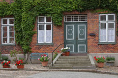Idyllic residential building in a small town Royalty Free Stock Photography