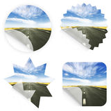 Idyllic road stickers Stock Image