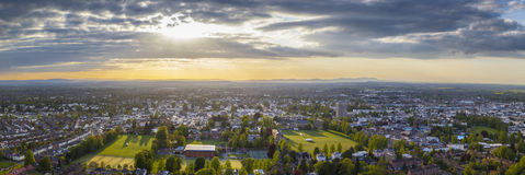 Idyllic rural, aerial view, Cheltenham UK Royalty Free Stock Photos