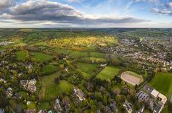 Idyllic rural, aerial view, Cheltenham UK Royalty Free Stock Photo