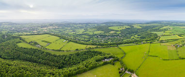 Idyllic rural, aerial view, Cotswolds UK Royalty Free Stock Images