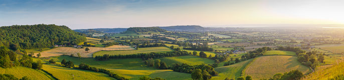 Idyllic rural farmland, Cotswolds UK Stock Photos