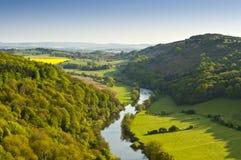 Idyllic rural landscape, Cotswolds UK Royalty Free Stock Photo