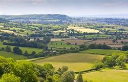 Idyllic rural landscape, Cotswolds UK Royalty Free Stock Photos