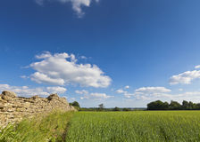 Idyllic rural landscape, Cotswolds UK Royalty Free Stock Photo