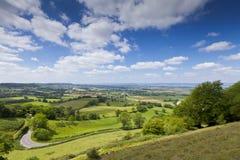 Idyllic rural landscape, Cotswolds UK Stock Photo