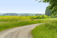 Idyllic rural scenery at early spring time Royalty Free Stock Photos