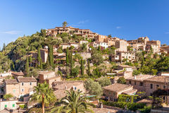 The idyllic rural village of Deia, Mallorca. A beautiful village of traditional ochre-coloured houses near the Teix mountain on the west coast of Mallorca. Now a Royalty Free Stock Images