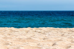Idyllic sand beach Royalty Free Stock Photography