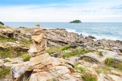 Idyllic Scene Beach at Samed Island,Thailand Stock Photos