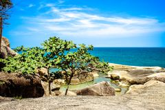 Idyllic Scene Beach at Samui Island Royalty Free Stock Image