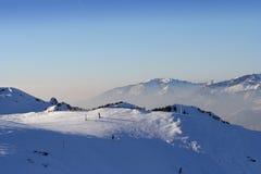 Idyllic Scene In Swiss Alps Royalty Free Stock Photos