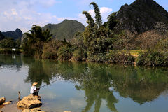 The idyllic scenery in jingxi ,guangxi, china. Jingxi , known as Little Guilin scenery in guangxi, China Stock Image