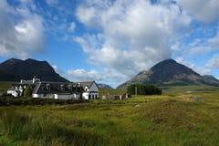 Idyllic scenery with Kings House Hotel stock image