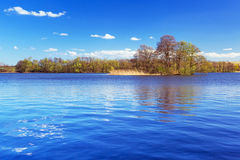 Idyllic scenery of the lake Stock Images
