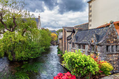 Idyllic scenery at Pont-Aven, a commune in the Finistere departm Stock Photography